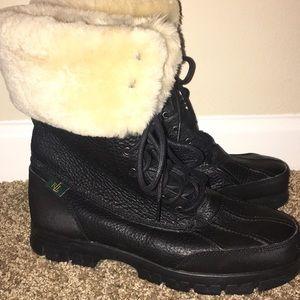 Women Ralph Lauren boots with  fur
